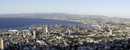 City of Haifa seen from Mount Carmel, in Israel
