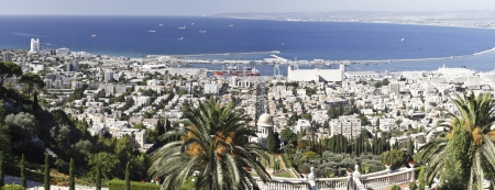 bahai: Haifa from the Baha�i Gardens Stock Photo