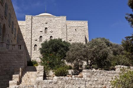 carmel: Nuestra Se�ora del Monte Carmelo Monasterio, Haifa, Israel Foto de archivo
