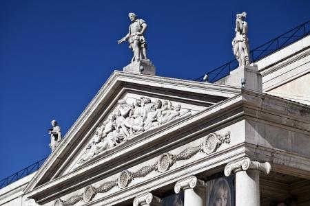 pediment: Pediment and Tympanum Stock Photo