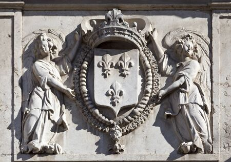 Coat of Arms – architectural detail in Lisbon photo
