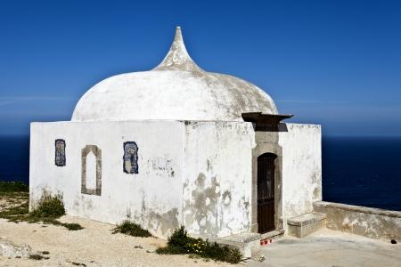 hermitage: Cape Espichel Hermitage, Portugal Stock Photo