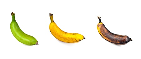 ripeness: Plantain � Three Stages of Ripeness Stock Photo