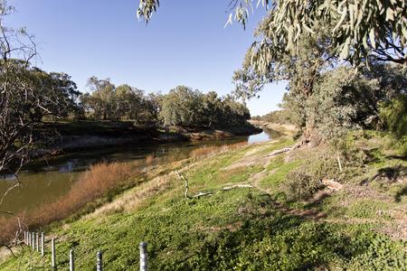 darling: Darling River at Wilcania Stock Photo