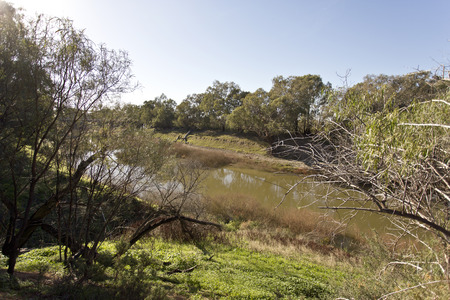 darling: Darling River at Wilcania Stock Photo