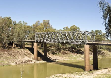 darling: Tilpa Darling River Bridge  Stock Photo