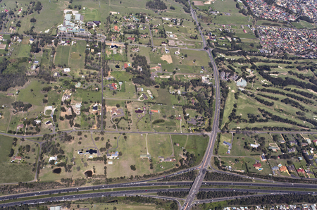 Aerial view of a typical highway photo