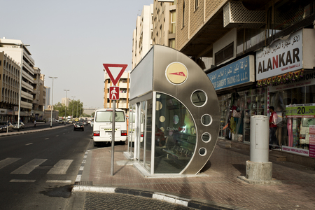 conditioned: Dubai air conditioned bus stop to protect customers from the hot weather outside Editorial