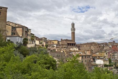 grey  sky: Siena under a grey sky, Tuscany, Italy