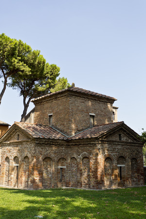ravenna: Famous for its Byzantine mosaics is the Mausoleum of Galla Placidia in Ravenna, Italy Editorial