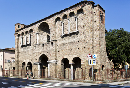 ravenna: Ruins of the Palace of King Theodoric in Ravenna, Italy