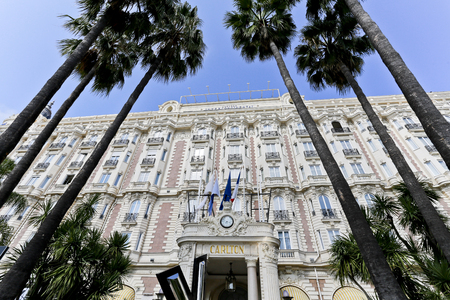 intercontinental: Built in 1911, the Carlton is a luxury hotel located on Boulevard de la Croisette in Cannes, France and is famous for hosting movie stars from around the world during the annual Film Festival Editorial