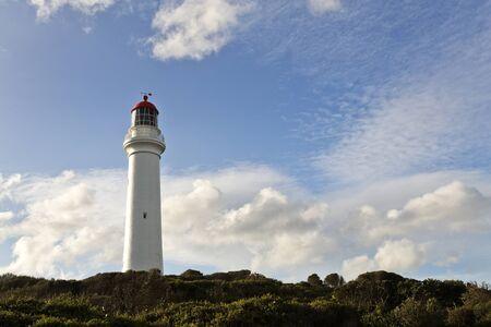 split road: Split Point Lighthouse Aireys Inlet Great Ocean Road Victoria Australia