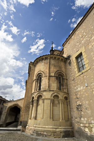 12th century: The Church of San Martin in Segovia, Spain, was built in the 12th century in Romanesque style. Stock Photo