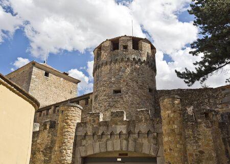 segovia: Fortress tower inside the historical centre of Segovia, Spain