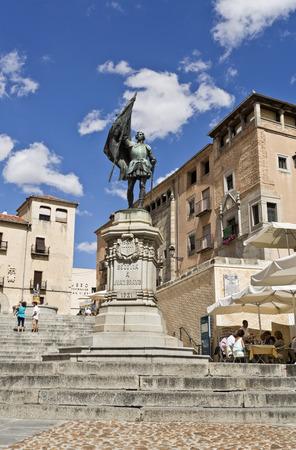 revolt: Monument to Juan Bravo in Segovia, Spain. Juan Bravo was a leader of the rebel Comuneros in the Castilian Revolt of the Comuneros.