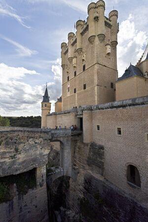 alcazar: View of the castle-palace of El Alcazar in Segovia, Spain Editorial
