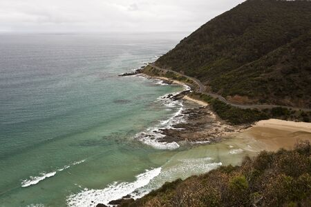 inlet bay: Mouth of the St George River into the Southern Ocean in Victoria, Australia