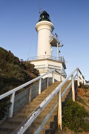 lonsdale: Point Lonsdale Lighthouse stands at the eastern end of the Bellarine Peninsula, on the western side of the entrance to Port Phillip from Bass Strait, in Victoria, Australia Stock Photo