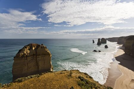and the magnificent: View of the Twelve Apostles magnificent coastline in Victoria, Australia