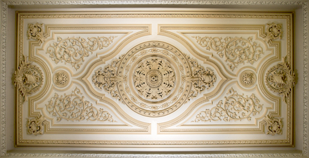 exaltation: Detail of the so called Firefighters Hall ceiling, in Lisbon, Portugal.The Lisbon City Hall, built between 1864 and 1880, is actual seat of Lisbons City Council.