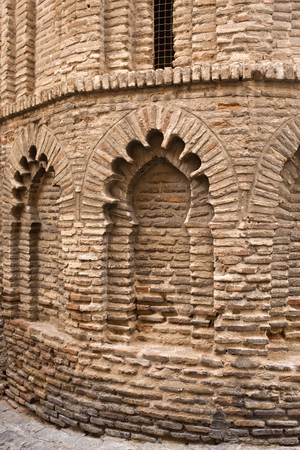isabel: Detail of the Mudejar architecture and decoration of the Convent of Santa Isabel de los Reyes in Toledo, Spain.