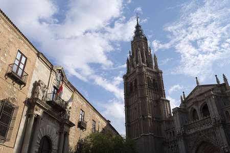 archbishop: View the Archbishop Palace and the Cathedral of Toledo, Spain