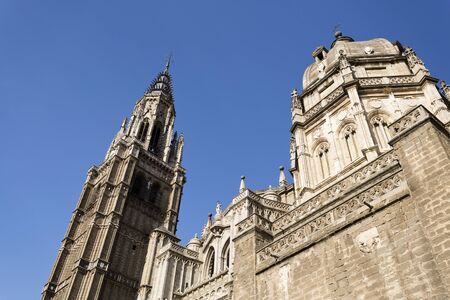 toledo: Bell Tower of the Cathedral of Toledo, Spain.