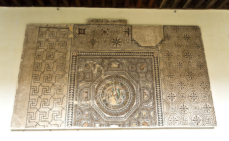 3rd century: Mosaic dating from the 3rd century AD in the Museum of Santa Cruz, Toledo, Spain Editorial
