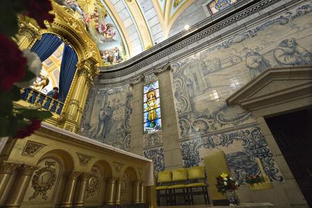 christian altar: Detail of the Apse of the Basilica of S. Bento da Porta Aberta, in Portugal
