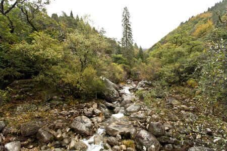 waterfall: Rio Maceira valley at Geres National Park, in northern Portugal