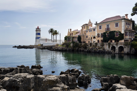 marta: The Santa Marta Lighthouse and museum in the village of Cascais, Portugal