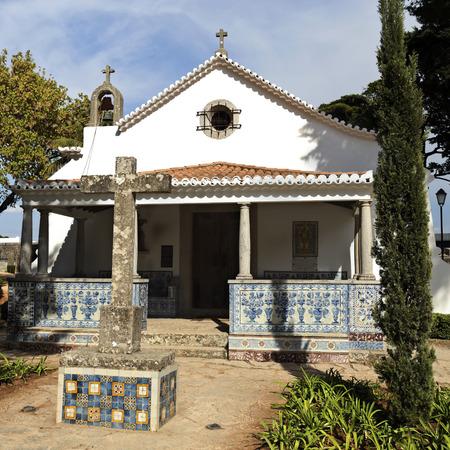 guimaraes: Chapel of Saint Sebastian wothin the Palace of Conde de Castro Guimaraes, also known as the Tower of Saint Sebastien, in Cascais, Portugal