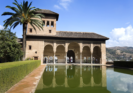 plasterwork: Palace of the Partal, also called Tower of the Ladies, is the very oldest palace dating from the early 14th century in the Alhambra, Granada, Spain