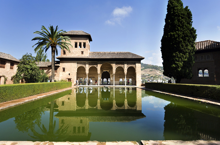 14th century: Palace of the Partal, also called Tower of the Ladies, is the very oldest palace dating from the early 14th century in the Alhambra, Granada, Spain