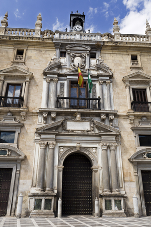 mannerism: Entrance to the Royal Chancery, a mannerist renaissance style palace built in the 16th century. Today is the Headquarters of the High Court of Andalusia Editorial