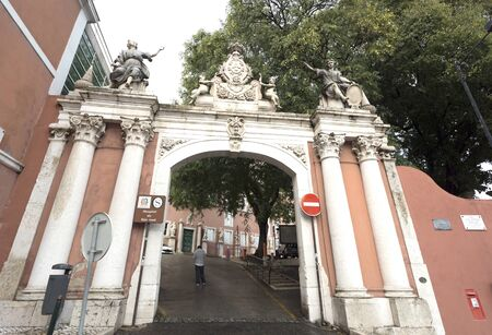 st  joseph: Entry to the St Joseph Hospital in Lisbon, Portugal