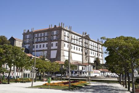 conde: The Monastery of Santa Clara, seen from the Republic Square in Vila do Conde, Portugal Editorial