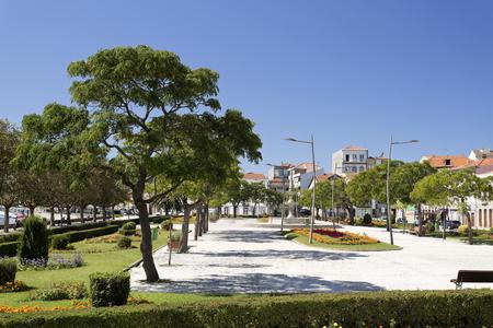 conde: The beautiful public garden in the Republic Square, Vila do Conde, Portugal