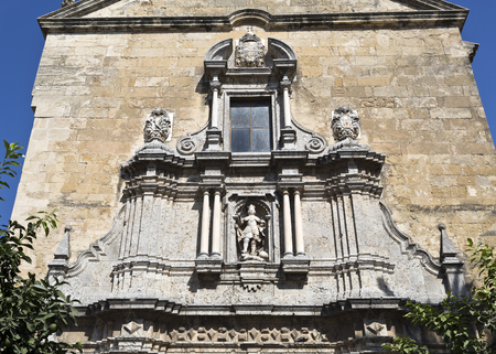 francis: Detail of the facade of the baroque Church of Saint Francis and Saint Eulogius in Cordoba, Spain