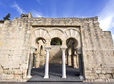 caliphate: Entrance to the Upper Basilica Hall at Medina Azahara medieval palace-city near Cordoba, Spain