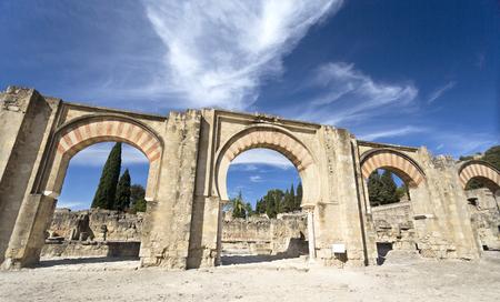 caliphate: The Great Portico at Medina Azahara medieval palace-city near Cordoba, Spain Editorial