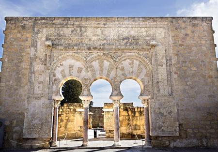 caliphate: Facade of the House of Yafar at Medina Azahara medieval palace-city near Cordoba, Spain