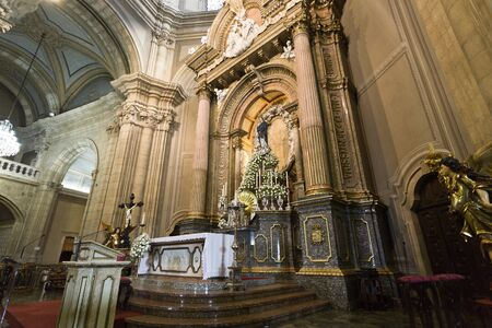 The main altar and the image of Our Lady in the Sanctuary of Sameiro in Braga, Portugal
