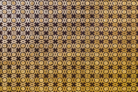 gilt: Detail of the coffered ceiling of geometric forms and gilt fleurons in the Sala de Audiencias, Alcazar of Seville, Spain