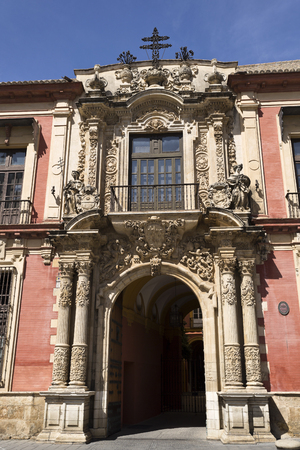 archbishop: Facade of the Spanish Baroque architectural style Archbishop Palace of Seville, Spain Editorial