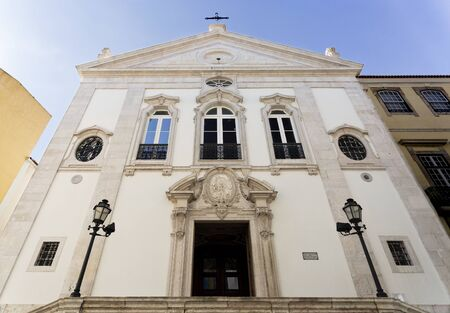 sacrament: Church of the Most Holy Sacrament was rebuilt after the Lisbon Earthquake of 1755 and still is today the only church facing East in Lisbon, Portugal Stock Photo