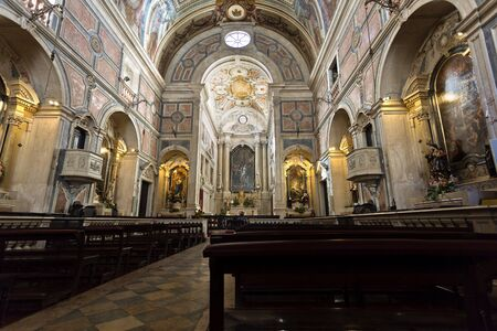 sacrament: Interior of the Baroque style Church of the Most Holy Sacrament in Lisbon, Portugal Editorial