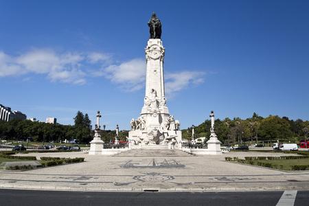 caravelle: Monument au marquis de Pombal, le premier ministre qui a reconstruit la vieille ville de Lisbonne après le tremblement de terre de 1755, à Lisbonne, Portugal