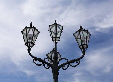schloss schonbrunn: Bronze street lamp decorating